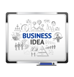 Magnet board with business ideas sketch vector