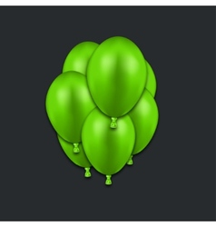 Modern green balloons on black vector
