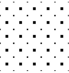 Monochrome seamless geometrical square pattern vector