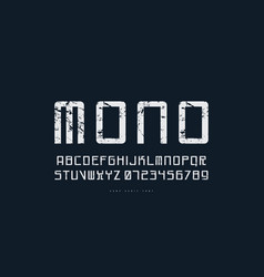 monospaced sans serif font in cyber style vector image