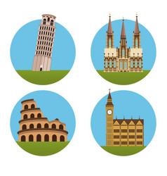 monuments of europe vector image