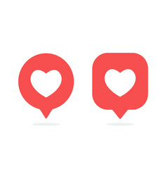 Notifications icon like icon social media vector