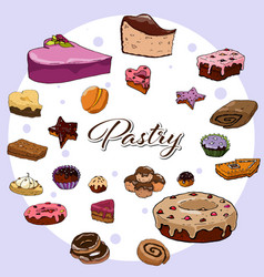pastry collection vector image