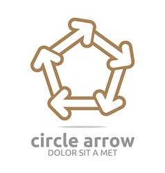 Pentagon arrow brown design symbol icon vector