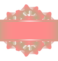 Pink silver lace flowers pattern and ribbon vector