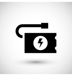 Portable battery icon vector
