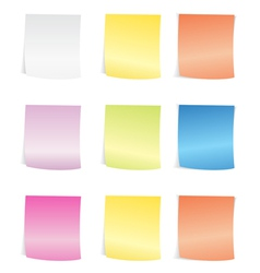 post it vector image
