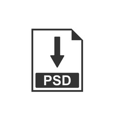 Psd file document icon download psd button icon vector