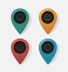 Realistic color pointer shell vector