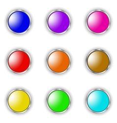 round button vector image