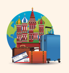 russia travel concept vector image