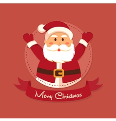 Santa Merry Christmas in Circle vector