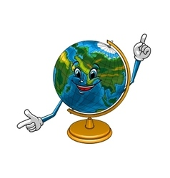 School geographical globe cartoon character vector