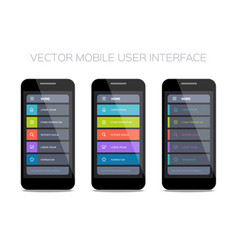 set home pages for mobile ui vector image