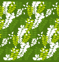 Simple acacia tree blossom seamless pattern vector