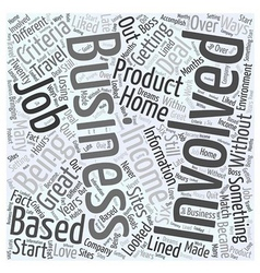 start your own business Word Cloud Concept vector image