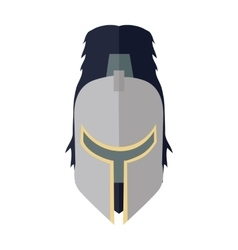 Steel Knight s Helmet vector image