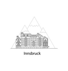 the city of innsbruck european houses vector image