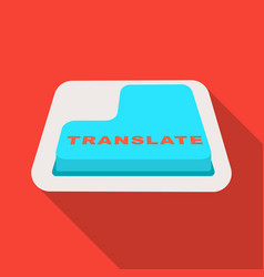 Translate button icon in flat style isolated on vector