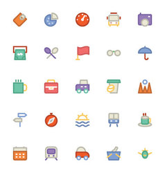 Travel Icons 11 vector image