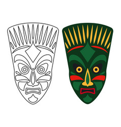 Tribal african masks vector