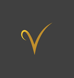v letter icon template vector image
