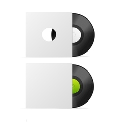 Vinyl Record in Empty Paper Case vector image