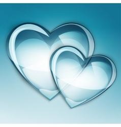 water drop heart one vector image