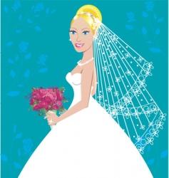 wedding gown vector image