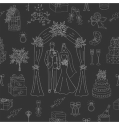 Wedding seamless background vector