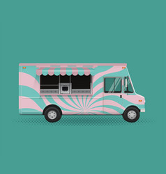 food truck poster template vector image vector image