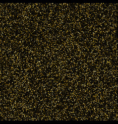 gold glitter shine texture on a black background vector image