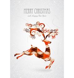 Merry Christmas trendy abstract reindeer vector image vector image