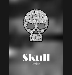 skull in floral style your concept design vector image vector image