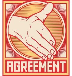 Agreement handshake design vector image vector image