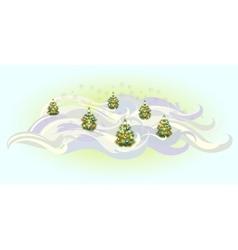 Christmas trees with balls EPS10 vector image