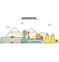 kazakhstan city skyline architecture buildings vector image vector image