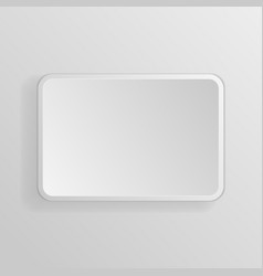 square white 3d button vector image