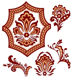 tribal paisley flower pattern vector image vector image