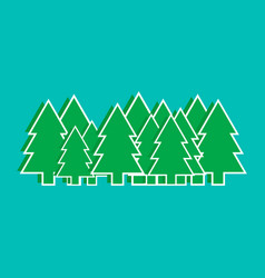 christmas trees graphics vector image vector image