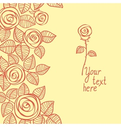 Cute background made of rose vector image vector image