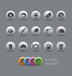 Food Icons 2 Pearly Series vector image