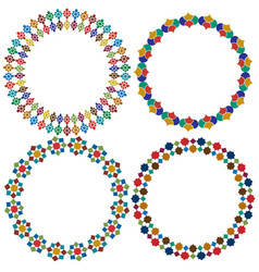 Moroccan tile circle frames graphics vector
