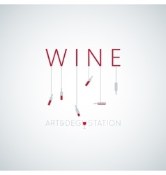 wine concept art design background vector image vector image