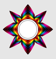 Abstract colourful star with copy space border vector
