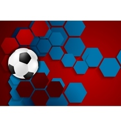 Abstract geometric football background vector image