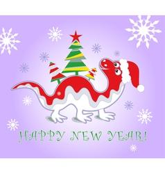 dragon new year 2012 vector image vector image