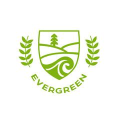 eco logo evergreen logo logo template vector image