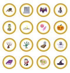 Halloween cartoon icon circle vector