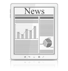news in tablet pc vector image vector image